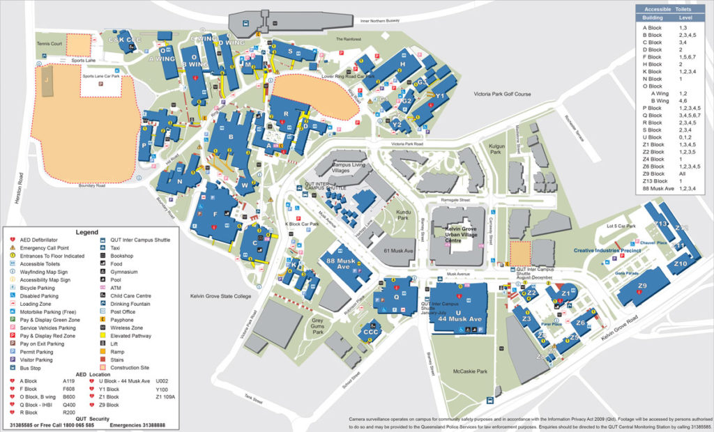 Qut Kelvin Grove Map Qut Kg Map | compressportnederland